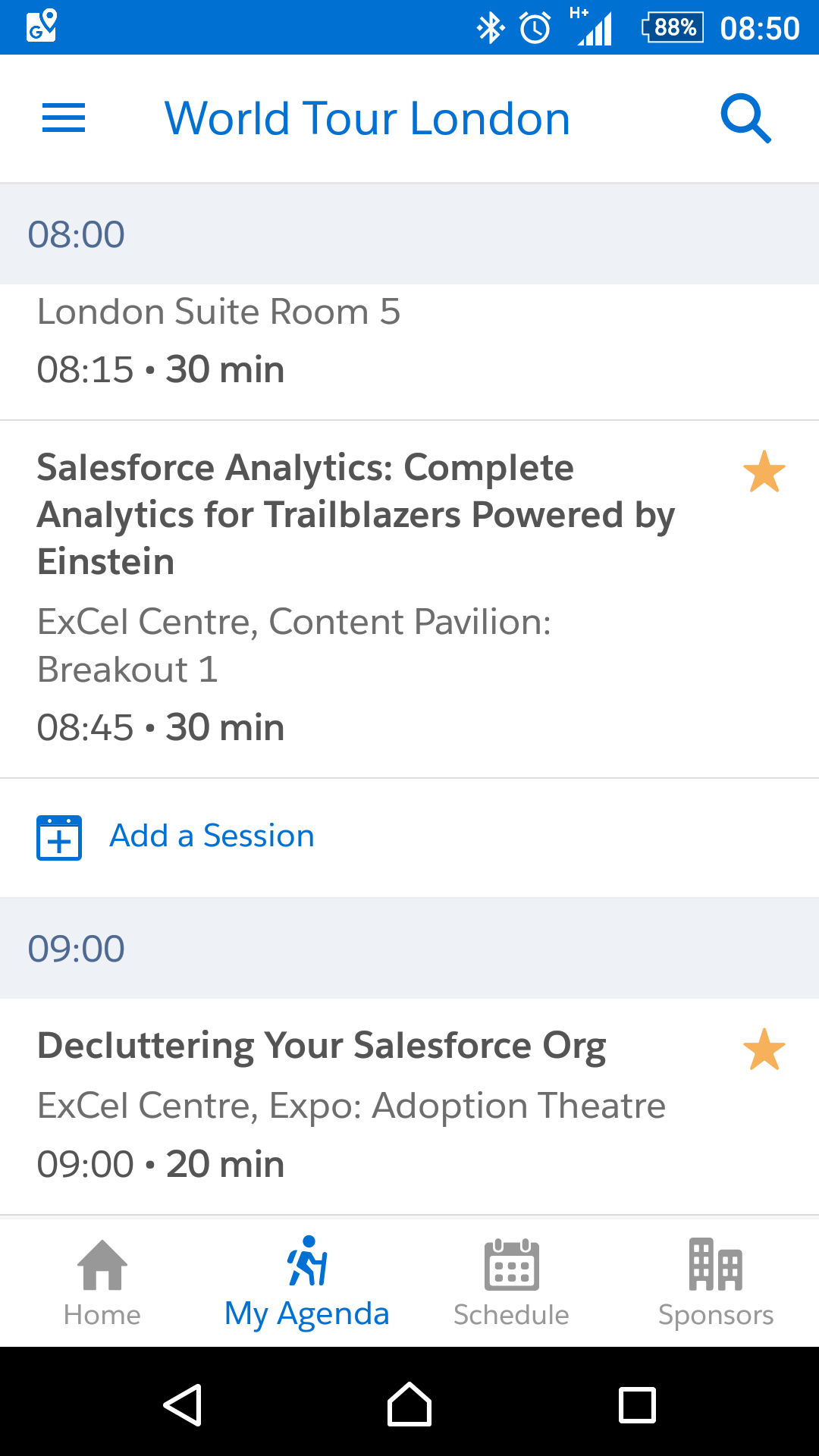 download the Salesforce Events app